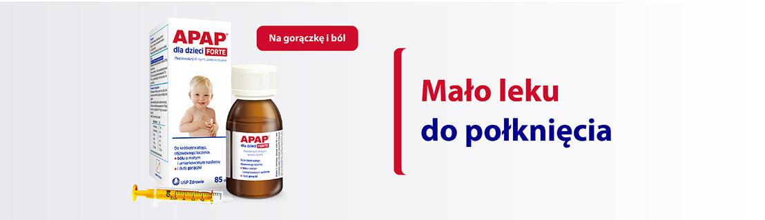Apap dla dzieci FORTE - Mało leku do połknięcia
