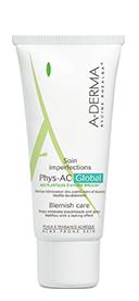 A-Derma Phys-AC Global żel krem do pielęgnacji ciężkich niedoskonałości skóry trądzikowej 40 ml - Apteka internetowa Melissa