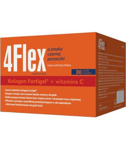 4 Flex kolagen nowej generacji z witaminą C o smaku czarnej porzeczki 30 saszetek