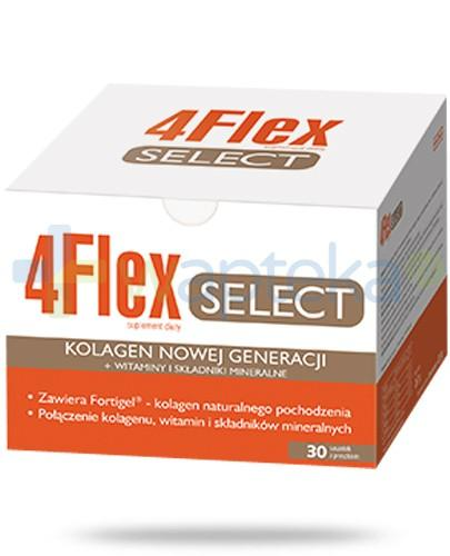 4 Flex Select kolagen nowej generacji z witaminami i składnikami mineralnymi 30 saszetek  [Data ważności 30-05-2018]