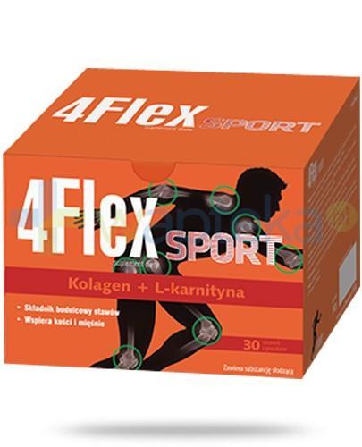 4 Flex Sport kolagen nowej generacji z L-karnityną 30 saszetek