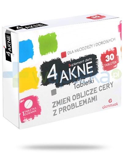 4AKNE na skórę tłustą i trądzikową 30 tabletek