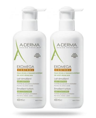 A-Derma Exomega Control mleczko emolient Rich przeciw drapaniu 2x 400 ml