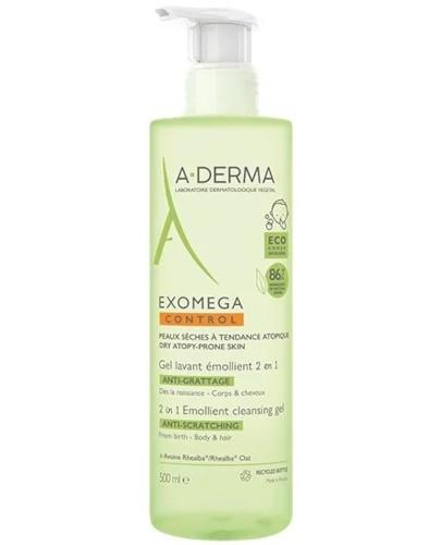 A-Derma Exomega Control żel emolient 2w1 przeciw drapaniu 500 ml