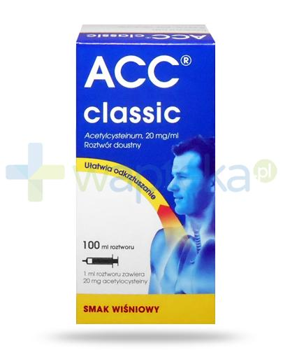 ACC Classic 20mg/ml (Acetylcysteinu) roztwór 100 ml