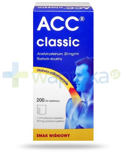 ACC Classic 20mg/ml (Acetylcysteinu) roztwór 200 ml