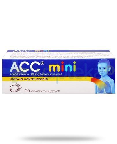ACC Mini 100mg (Acetylcysteinum) 20 tabletek musujących