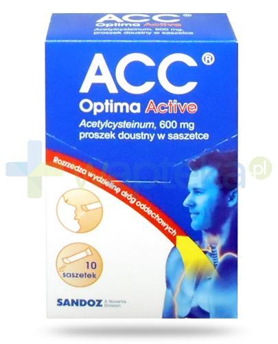 ACC Optima Active 600mg (Acetylcysteinum) proszek 10 saszetek
