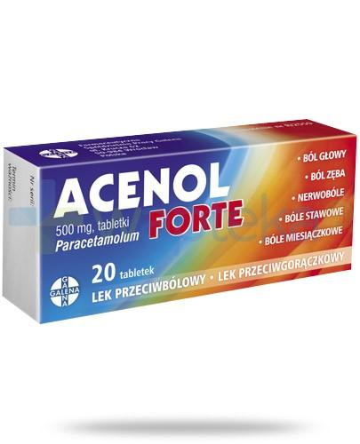 Acenol Forte 500mg 20 tabletek