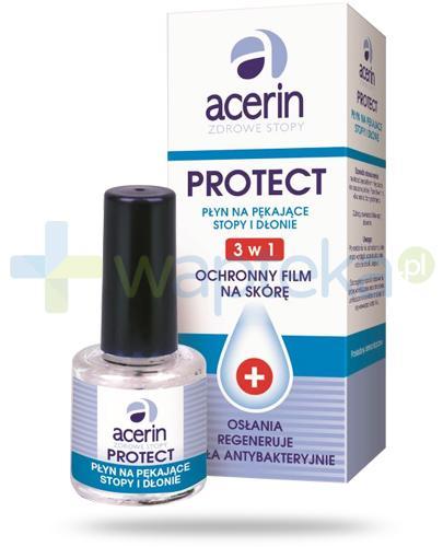 Acerin Protect płyn na pękające stopy i dłonie 3w1 ochronny film na skórę 8 g