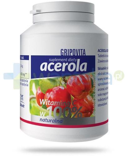 Acerola Gripovita naturalna witamina C 60 tabletek