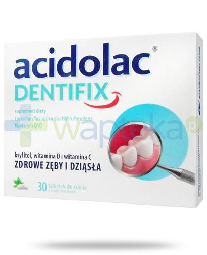 Acidolac Dentifix smak miętowy 30 tabletek do ssania