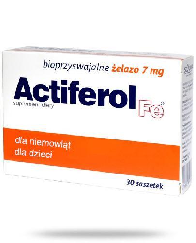 Actiferol Fe bioprzyswajalne żelazo 7mg 30 saszetek