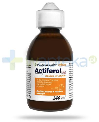 Actiferol Fe bioprzyswajalne żelazo dla dzieci 3+, płyn 240 ml