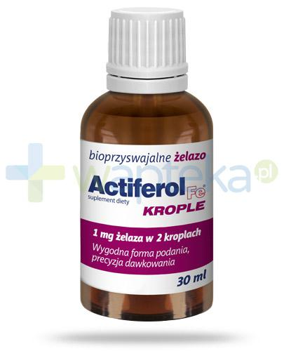Actiferol Fe krople bioprzyswajalne żelazo 30 ml Data ważności 31-05-2019]