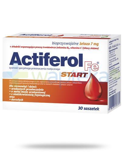 Actiferol Fe Start bioprzyswajalne żelazo 7mg 30 saszetek