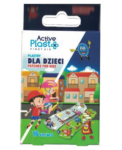 Active Plast First Aid plastry dla dzieci 16 sztuk