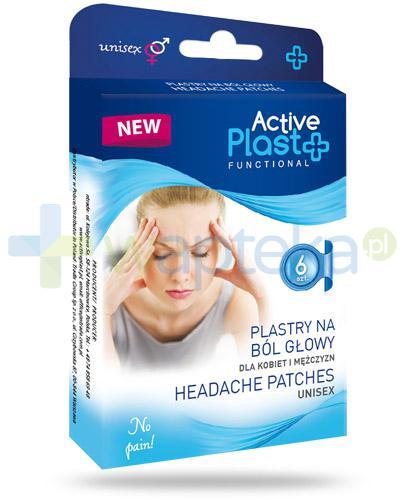 Active Plast Functional plastry na ból głowy 6 sztuk