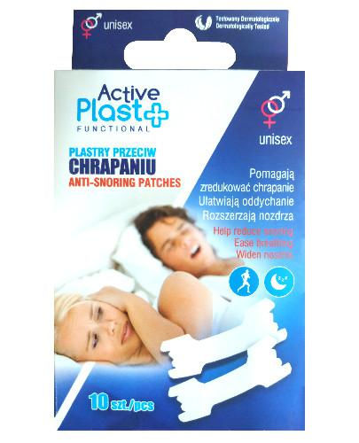 Active Plast Functional plastry na chrapanie 10 sztuk
