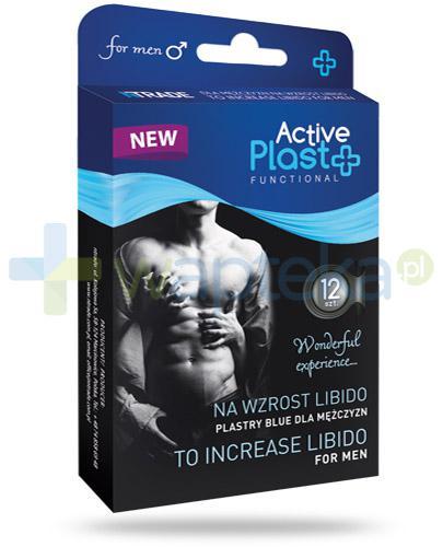 Active Plast Functional plastry na wzrost libido dla mężczyzn 12 sztuk