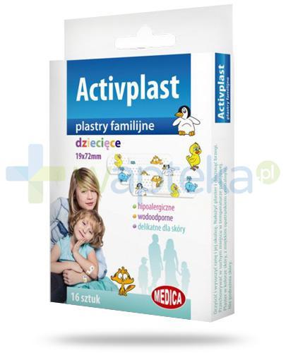 Activplast plastry familijne dziecięce, plastry z nadrukiem 16 sztuk