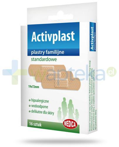 Activplast plastry familijne standardowe, plastry 19mm x 72mm 16 sztuk