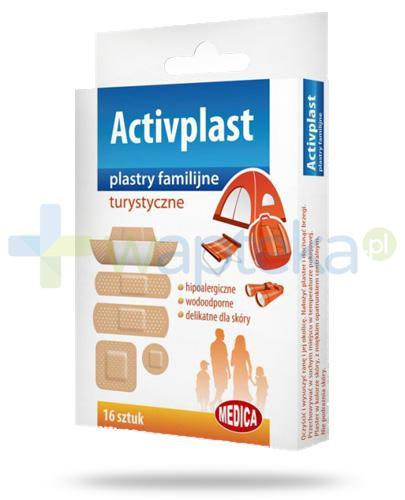 Activplast plastry familijne turystyczne, plastry w pięciu rozmiarach 16 sztuk