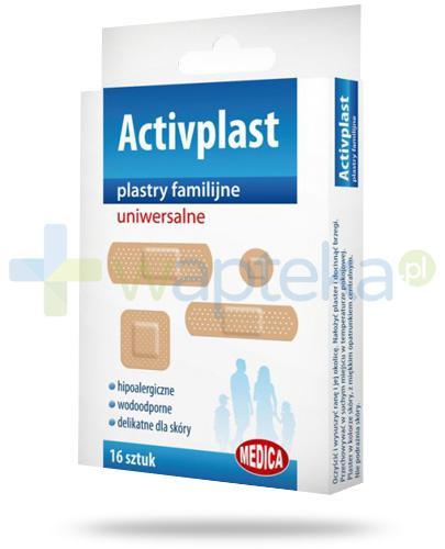 Activplast plastry familijne uniwersalne, plastry w czterech rozmiarach 16 sztuk