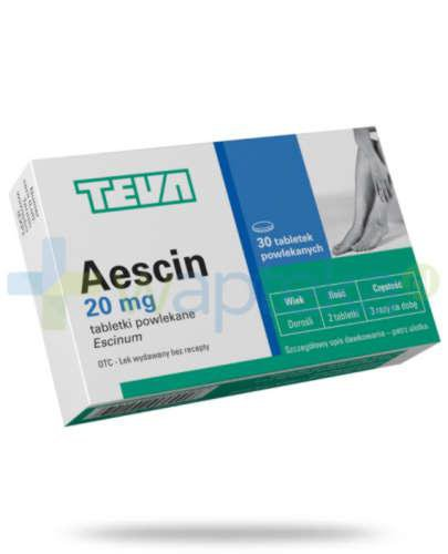 Aescin 20mg 30 tabletek