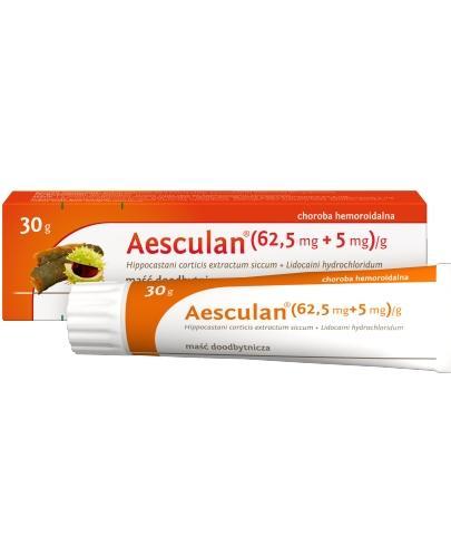 Aesculan maść (62,5 mg/ 5mg)/g 30 g