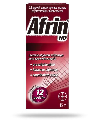 Afrin ND 0,5mg/ml aerozol do nosa 15 ml