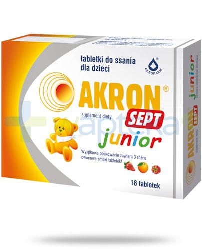 Akron Sept Junior 18 tabletek