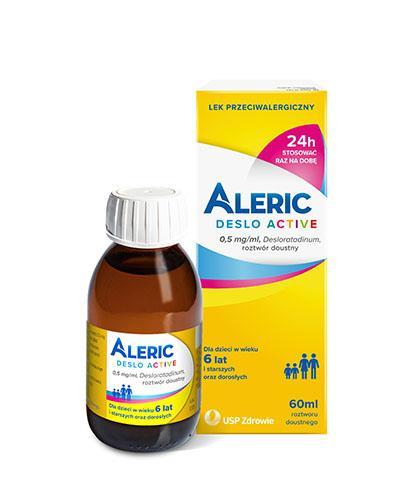 Aleric Deslo Aactive roztwór doustny 0,5mg/ml 60 ml
