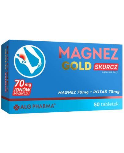 Alg Pharma Magnez Gold Skurcz magnez 70mg + potas 75mg 50 tabletek