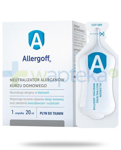 Allergoff płyn do tkanin neutralizator alergenów kurzu domowego 12x 20 ml