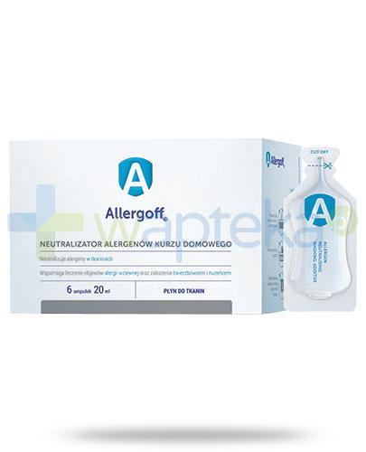 Allergoff płyn do tkanin neutralizator alergenów kurzu domowego 6x 20 ml