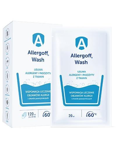 Allergoff Wash dodatek do prania neutralizator alergenów kurzu domowego 6x 20 ml - Data ważności 31-08-2017