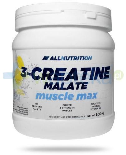 Allnutrition 3-Creatine Malate Muscle Max Lemon kreatyna smak cytrynowy 500 g