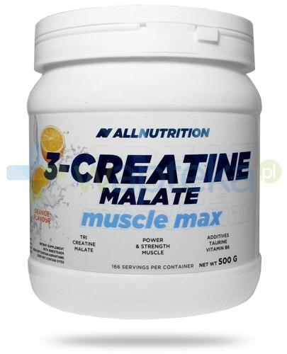 Allnutrition 3-Creatine Malate Muscle Max Orange kreatyna smak pomarańczowy 500 g