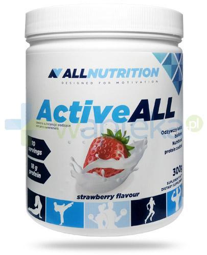 Allnutrition ActiveAll Strawberry koktajl białkowy smak truskawkowy 300 g
