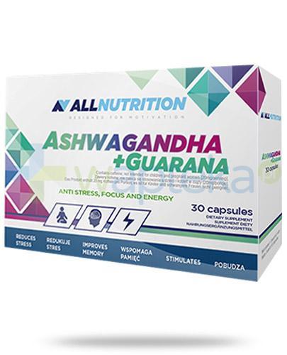 Allnutrition Ashwagandha + Guarana 30 kapsułek