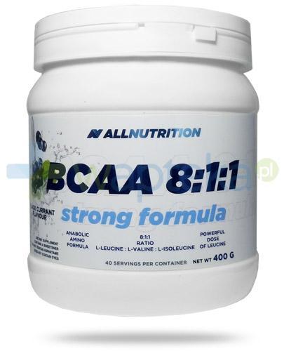 Allnutrition BCAA 8:1:1 Strong Formula Black Currrant smak czarna porzeczka 400 g [aminokwasy]