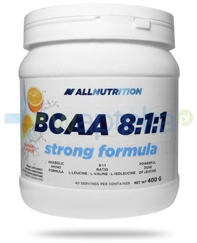 Allnutrition BCAA 8:1:1 Strong Formula Orange smak pomarańczowy 400 g - Data ważności 31-12-2017 + StimAll extreme 20 kaps. [GRATIS]