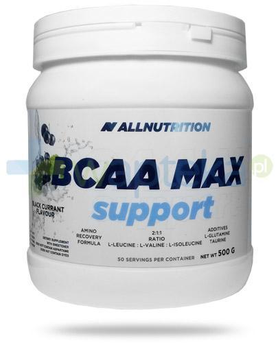 Allnutrition BCAA Max Support Black Currrant smak czarna porzeczka 500 g