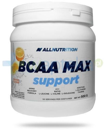Allnutrition BCAA Max Support Orange smak pomarańczowy 500 g