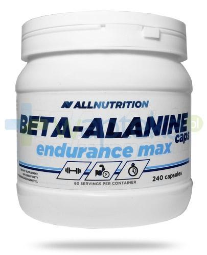 Allnutrition Beta-Alanine Caps Endurance Max 240 kapsułek - Data ważności 31-12-2017 + Vit. D3 4000 forte 30 kaps. [GRATIS]