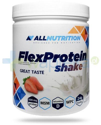 Allnutrition FlexProtein Shake Strawberry białko kolagenowe smak truskawkowy 500 g