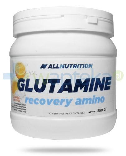 Allnutrition Glutamine Recovery Amino Orange glutamina smak pomarańczowy 250 g