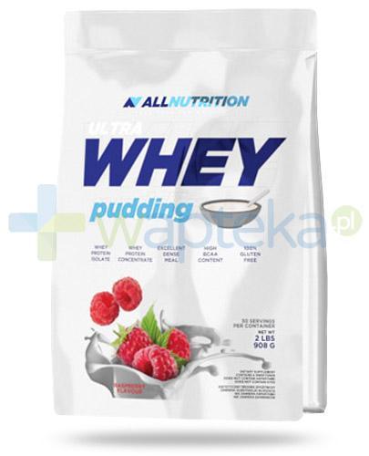 Allnutrition Ultra Whey Pudding Raspberry odżywka wysokobiałkowa o smaku malinowym 908 g