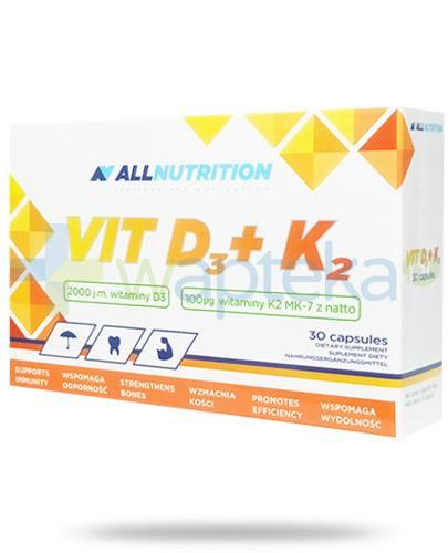 Allnutrition Vit D3 + K2 30 kapsułek [witamina D3 K2]